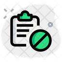 Clipboard Banned Icon