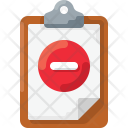 Clipboard delete Icon