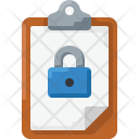 Clipboard lock Icon