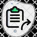 Clipboard Send Icon