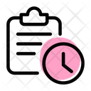 Clipboard Time Clipboard Deadline File Deadline Icon