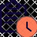 Clipboard Time Clipboard Deadline File Deadline Icon