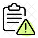 Clipboard Warning Clipboard Warning Icon