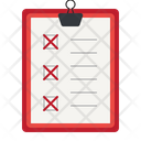 Clipboard with cross checkmark Icon