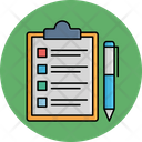 Clipboard With Pen Icon