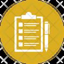 Clipboard With Pen Clipboard Checklist Icon