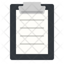 Clipboard With Text Icon