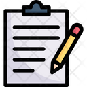 Clipboard Writing Document Note Icon