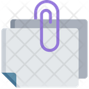 Clipped Document Icon