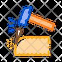 Clipping Bricklayer Mason Icon