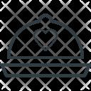 Cloche Heart Sign Icon