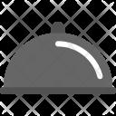 Silver Cloche Food Icon