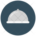 Food Cloche Plate Icon