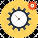 Clock Cogwheel Gear Icon