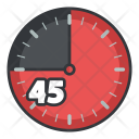 Forty Five Clock Icon