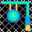Railway Station Clock Station Clock Hangging Clock Icon