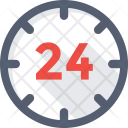 Clock Time 24 Icon