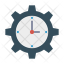 Clock Time Setting Icon
