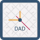 Clock Family Time Fathers Day Icon