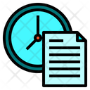 Clock File Paper Icon