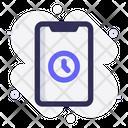 Mobile Clock Alarm Icon
