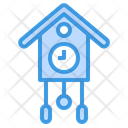 Clock Birds House Time Icon