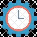 Clock Setting Cog Icon