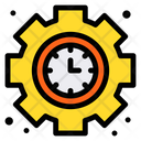 Clock Gear Management Icon