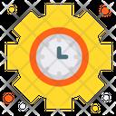 Clock Gear Management Icon