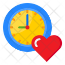Clock Love Time Watch Icon