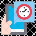 Clock App Smartphone Icon