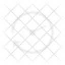 Clock Passing Clockwise Icon