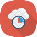 Clock Cloud Database Icon