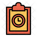 Clipboard Clock Time Icon
