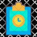 Clock Clipboard Icon
