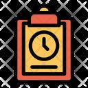 Clock Clipboard List Icon