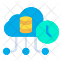 Cloud Database Cloud Data Timer Icon