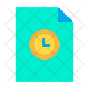 Clock Document Clock Time Icon