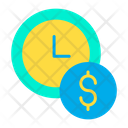 Clock dollar Icon