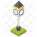 Clock Lamp Post Icon