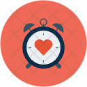 Clock with heart Icon