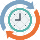 Clockwise Around The Clock Passage Of Time Icon