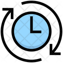 Clockwise Arounf The Clock Passage Of Time Icon