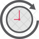 Clockwise Around Clock Icon