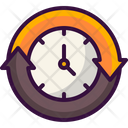 Clockwise Time Left Passing Time Icon