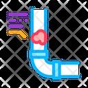 Clogged Pipe Service Icon