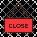 Close Close Restaurant Close Signboard Icon