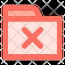 Close Folder Data Icon