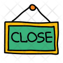 Close Signboard Sign Icon