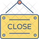 Close Signboard Hanging Icon